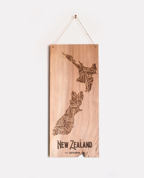 New Zealand Relief Carving Wall Hanging